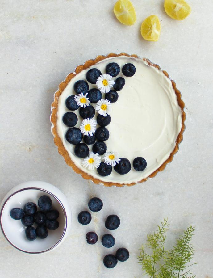 Blueberry lemon cream tart